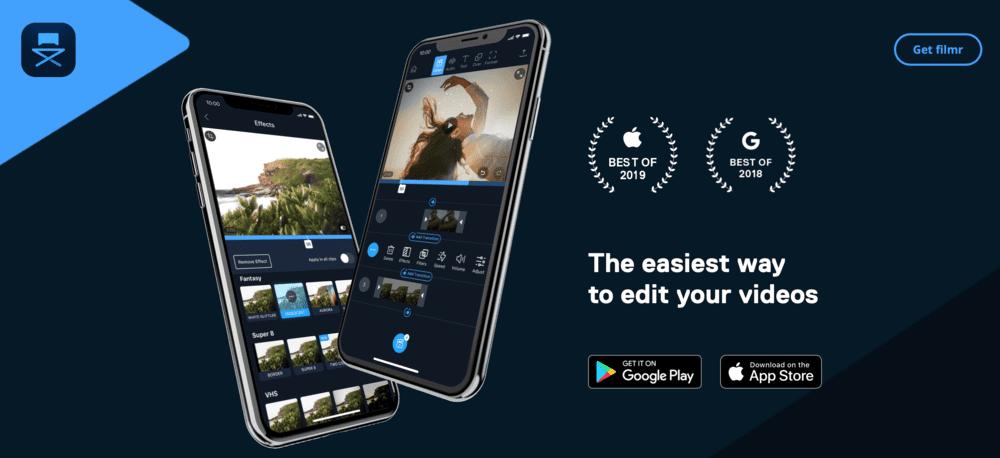 Filmr app intuitivo para editar video igtv no instagram