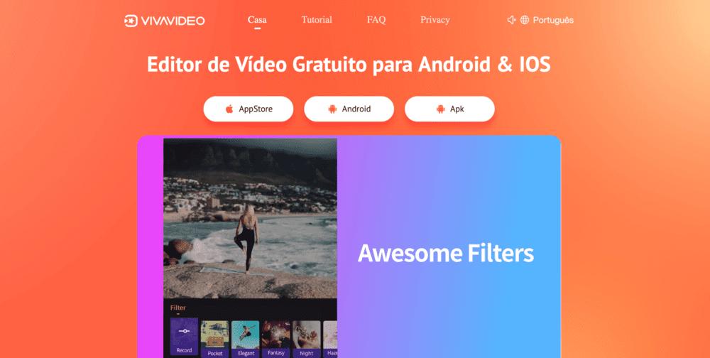 Vivavideo uma ótima opção para editar vídeos IGTV do Instagram