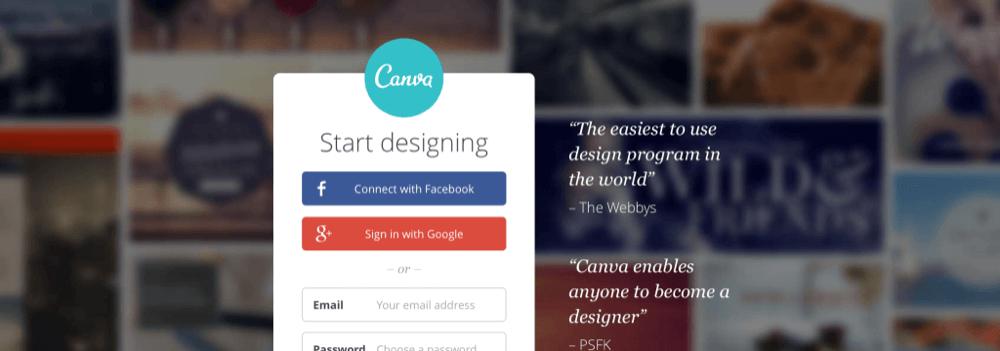 Canva.com crie imagens para suas redes sociais