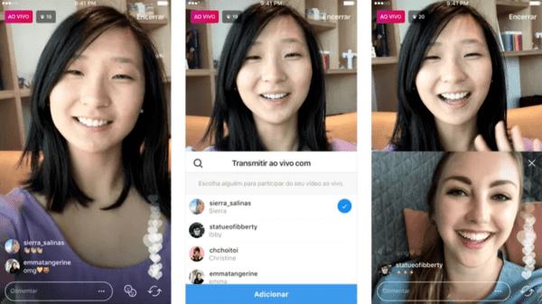 Como funciona a live do instagram?