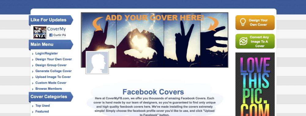 covermyfb crie capas para perfil facebook