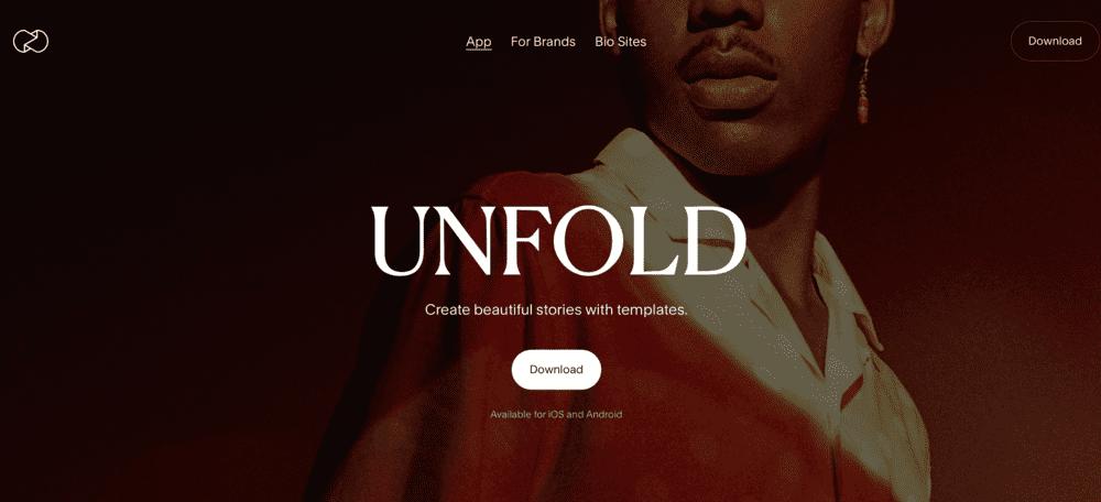 Unfold - app para criar cenas com imagens simultaneas