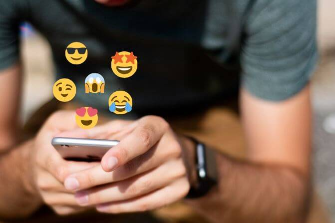 Use emojis no Instagram